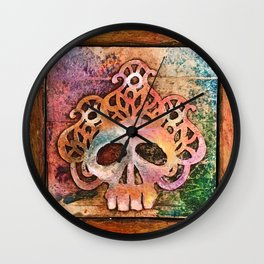 San Francisco Sugar Skull 5 Wall Clock
