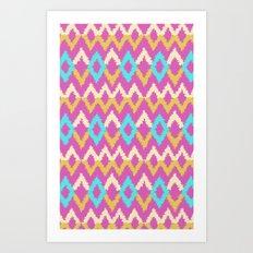 Ikat inspired Art Print