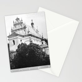 retro monochrome Kazimierz Stationery Cards