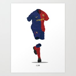 Barcelona 2008/09 - Champions League Winners Art Print
