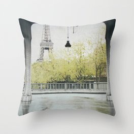 Letters From Autumn in Paris Throw Pillow