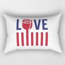 Love not hate Rectangular Pillow