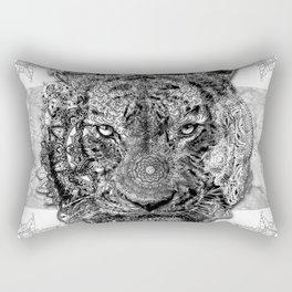 mandala tiger Rectangular Pillow