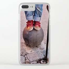 Red dreams Clear iPhone Case