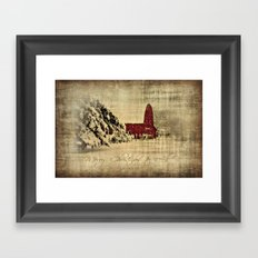Merry Christmas and Happy Holidays to all! Framed Art Print