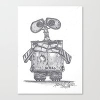 wall e Canvas Prints featuring Wall E by Michelle Zombie