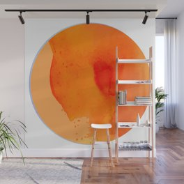 An abstract moon inspired by geometric shapes and geodes Wall Mural