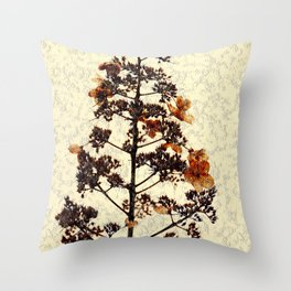 Flowery Stem Throw Pillow