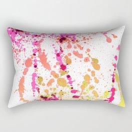 Uplifting Heat - Abstract Splatter Style Rectangular Pillow