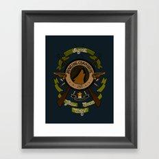 Sgt Bucky Barnes (green) Framed Art Print