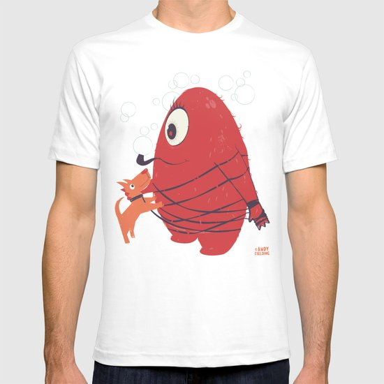 Cyclopes Monster Blob & Orange Dog T-shirt