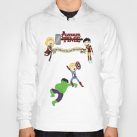 avenger Hoodies featuring Avenger Time! by Det Guiamoy
