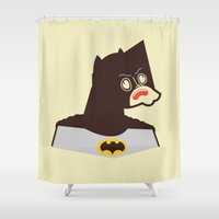 bat man Shower Curtains featuring Bat Man by Ryder Doty