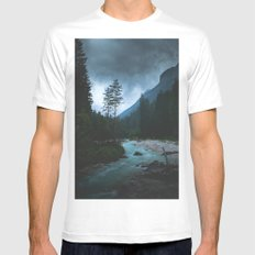 Landscape Mood #creek White Mens Fitted Tee MEDIUM