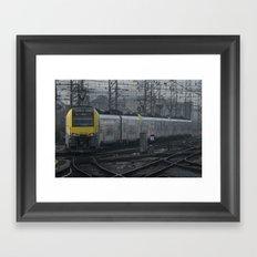 Brussels departure Framed Art Print