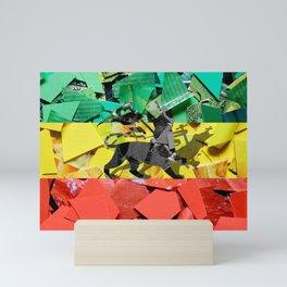 Recycle friendly Rasta flag Mini Art Print