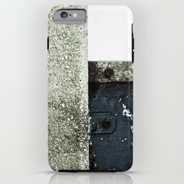 White Blue Concrete iPhone Case