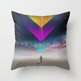 006 - Cosmic surfer Throw Pillow