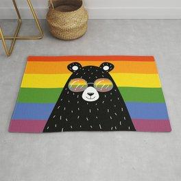 Gay Pride Rainbow Bear Rug