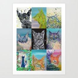 NINE TIMES CATS Art Print