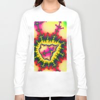mineral Long Sleeve T-shirts featuring Colourful Fractal Mineral by thea walstra