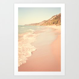 Her Mind Wandered Back and Forth With the Waves Art Print
