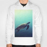 sea turtle Hoodies featuring Turtle by Rachel's Pet Portraits