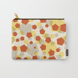 Pentagon yellow red grey Carry-All Pouch