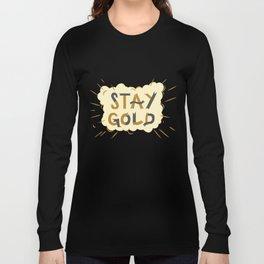 Stay Gold Print Long Sleeve T-shirt