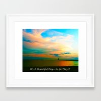 channel Framed Art Prints featuring Channel by Dymond Speers