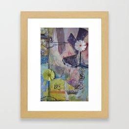 Flower Montage Framed Art Print