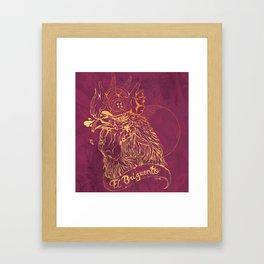 El Briguento - The Fighter (Golden) Framed Art Print