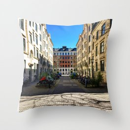 Park a Bike Throw Pillow