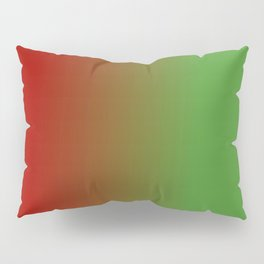Ombre in Red Green Pillow Sham