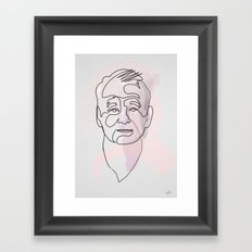 One line Bill Murray Framed Art Print