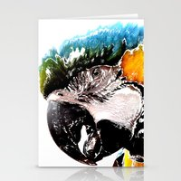 parrot Stationery Cards featuring Parrot by Regan's World