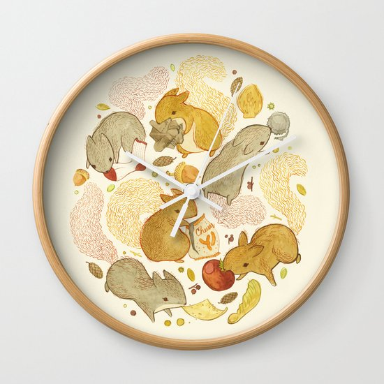 Things Squirrels Probably Shouldn't Be Eating Wall Clock
