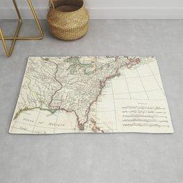 Thirteen Colonies Vintage Map (1776) Rug