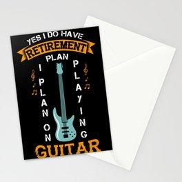 Guitar Retirement Plan Gift - Playin Guitar & Making Music Stationery Cards