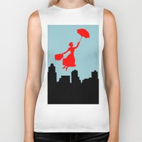 mary poppins Biker Tanks featuring Mary Poppins  by Sammycrafts