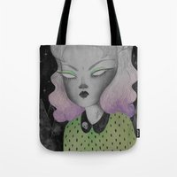 outer space Tote Bags featuring Ghoul from Outer Space by lOll3
