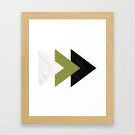 Forward Arrows Marble Pepper Stem Collage Framed Art Print