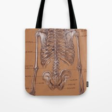 Jesse Young's Human Anatomy Drawing of Skeletal Structure of the Torso (Circa 2005) Tote Bag