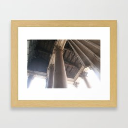 with standing time, light, and all else Framed Art Print