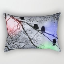Polar Crows Rectangular Pillow