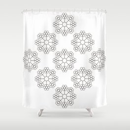 AT FLOWER Shower Curtain