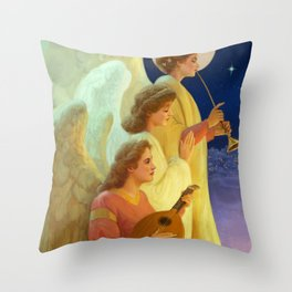 3 angels Throw Pillow