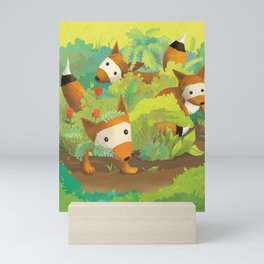 Babies in Bushes Mini Art Print