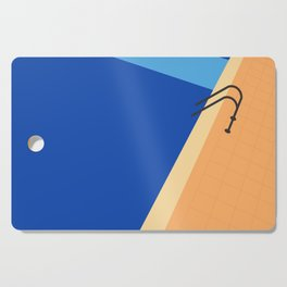 Swimming Pool with Blue Water Cutting Board