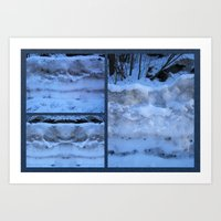 geology Art Prints featuring The Geology of Snow by World Raven